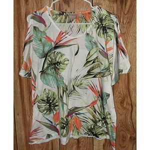 Chico's Tropical Cold Shoulder Top